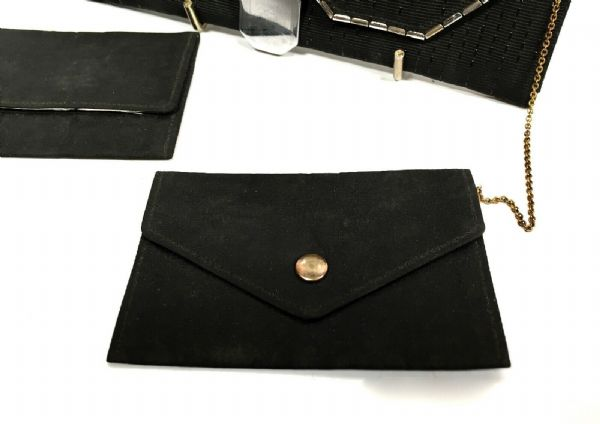 Art Deco Ladies Fabric & Sterling Silver Evening  Clutch Bag / Purse London 1914